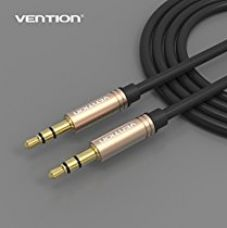 Buy Vention Gold Plated 3.5mm Male to Male Stereo Audio Aux Cable 1m (3ft) Black from Amazon