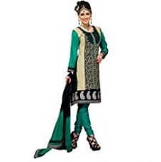 Buy Cenizas embroidered Semi Stich Salwar Suit Duptta (2008) from Amazon