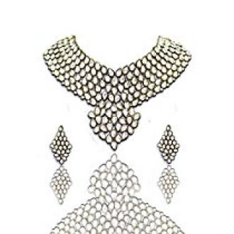 Zaveri Pearls Sensuous Grand Kundan Necklace Set-ZPFK3712 for Rs. 753