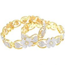 Buy M Creation Gold Plated Bangle Set For Women , MB456 (2.40 IN) from Amazon