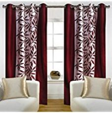 Buy Home Candy Eyelet Fancy 2 Piece Polyester Door Curtain Set - 84