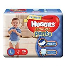 Buy Huggies Ultra Soft Pants Large Size Premium Diapers for Boys (White, 26 Counts) from Amazon