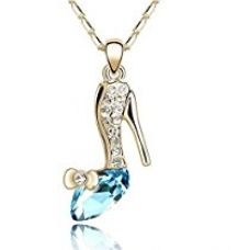 Habors 18K Gold Plated Blue Austrian Crystal Cinderella High Heeled Pendant for Women for Rs. 199