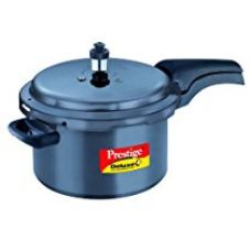 Prestige Deluxe Plus Hard Anodized Outer Lid Pressure Cooker, 5 Litres, Black for Rs. 2,346