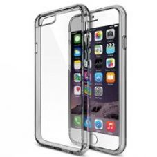 MTT® Shock Proof Bumper Transparent Case for IPhone 6S Plus / 6 Plus (Smoke Black) for Rs. 599