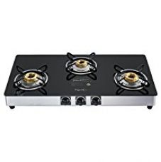 Buy Pigeon by Stovekraft Blackline Square BL 3BR SS SQ Auto Gas Stove, 3 Burner from Amazon
