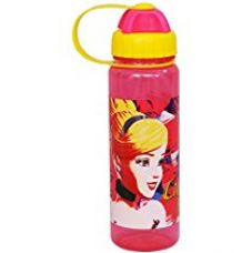 Disney Cinderella Plastic Sipper Bottle, 550ml, Pink/Yellow for Rs. 249