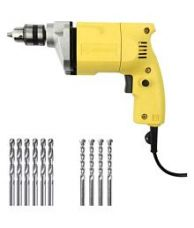 Buy Buildskill 10mm Electric Drill + 6 HSS + 4 Masonary Bits for Rs. 819