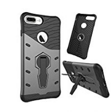 Chevron Back Cover Case for Apple iPhone 7 Plus (Galaxy Black) [Sniper Series Version 3.0 With 360° Kick Stand Hybrid Back Cover Case] for Rs. 299