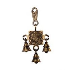 Buy eCraftIndia Lord Ganesha  Brass Hanging Bells (9 cm x 3 cm x 15, Brown and Golden) from Amazon