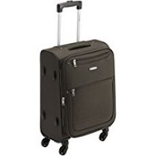 Buy Aristocrat Basil 54 cms Brown Check-In Suitcase (STBASI54BRN) from Amazon