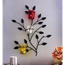 TiedRibbons T-light candles holder /wall Sconce holder Set of 2 (Black, Metal) | tealight candle holders | home decor accessories for wall | house warming decoration items for Rs. 499