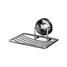 Bathla Suction Stainless Steel Soap Tray / Rack (Silver) for Bathroom & Kitchen Use - With Twist Lock Technology for Instant Installation for Rs. 705
