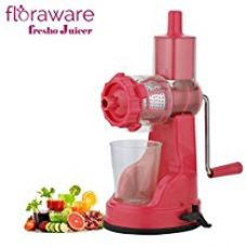 Floraware Plastic Fruit and Vegetable Juicer with Vacuum Locking System, Pink for Rs. 399