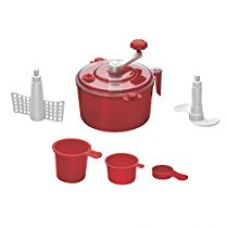 Buy Floraware® 5-Piece Atta Dough Kneader Maker with Cut Chop Kitchen Set, Red from Amazon