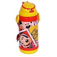 Disney & Marvel Insualted Sipper Bottle Water Bottle, in Mickey Mouse, Cinderella, Avengers, Spider-Man, Minnie Mouse & Princess characters, BPA free, 500ml, Multi-color (Mickey Mouse Bottle) for Rs. 299