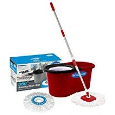 Buy Primeway Pw266Me Double Driver Economy Magic Mop Set with 2 Mop Heads (Red) from Amazon