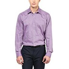 Buy American Crew Men's Full Sleeve Solid Shirt With Pocket (Dark Pink) from Amazon