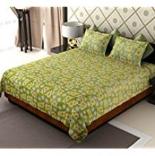 Buy Amethyst Polycotton Double Bedsheet with 2 Pillow Covers - Multicolour from Amazon