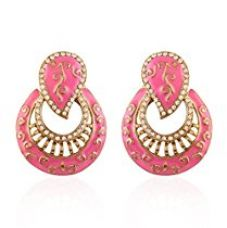 Buy I Jewels Traditional Gold Plated Meenakari Earrings for Women E2224Pi (Pink) from Amazon