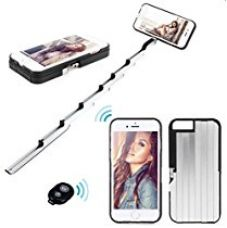 Buy IPhone 6/6S Case with Selfie stick- Unique Adjustable Aluminum Selfie Stick Case & Bluetooth Remote Shutter- from Amazon