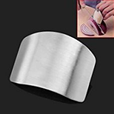 Woogor Stainless steel finger protector Hand Guard knife slice cutting chop shield safe protection kitchen tool,Metal Finger Guard Protector, Kitchen Knife Chop Helper (One Piece) for Rs. 169