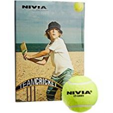 Buy Nivia Light Weight Rubber Tennis Cricket Ball, Pack of 6 (Yellow) from Amazon
