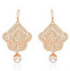 Buy Ahilya Jewels .925 Sterling Silver Imperial Filigree Drop Earrings from Amazon