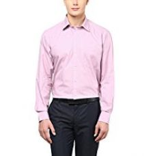Buy American Crew Men's Full Sleeve Solid Shirt With Pocket (Pink) from Amazon