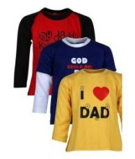 Get 70% off on Goodway Junior Boys M&D -3 -  Red, Royal , Yellow Combo Pack of  3 T-Shirts For Boys