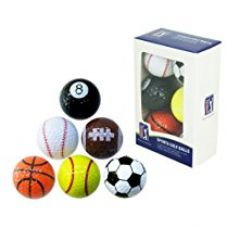 Buy PGA Tour (T167) Novelty Fun Sports Golf Balls (Pack of 6) from Amazon
