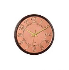 Buy eCraftIndia Decorative Retro Plastic and Glass Wall Clock (27.5 cm x 2.5 cm x 27.5 cm, Brown, PWCMJ303) from Amazon