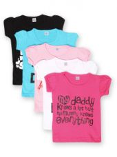 Get 65% off on GKIDZ Girls Pack of 5 Printed T-shirts