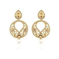 I Jewels Traditional Gold Plated Kundan & Stone Earrings for Women E2324FL (Gold) for Rs. 238