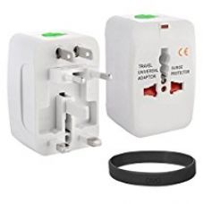 Buy DMG Universal World Wide Multi Plug Travel Charger Adapter + DMG Wristband from Amazon