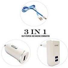 Buy LDNIO Multi-Purpose 3-in-1 USB Charging Combo USB Wall Charger Car Charger Micro USB Cable for Smartphones and Android Tablets from Amazon