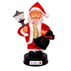Buy Toyshine Santa Claus 8 Inches Toy with Lights, Music (Jingle Bells) and Moving Body from Amazon