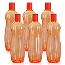 Cello Sipwell PET Bottle Set, 1 Litre, Set of 6, Orange for Rs. 274
