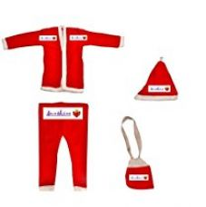 Buy Sunshine Christmas Dress for children Size No. 0 (For ages 0 to 5 Months), Santa Claus Dress Costume from Amazon