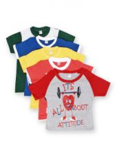Flat 65% off on GKIDZ Boys Pack of 5 Printed T-shirts