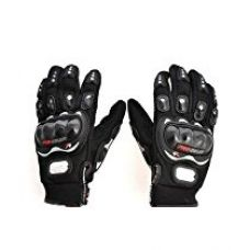 Buy Probiker Synthetic Leather Motorcycle Gloves (Black, L) from Amazon