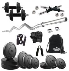 Headly 35 Kg Home Gym, 14 Inch Dumbbells, Curl Rod, Gym Backpack, Accessories for Rs. 2799