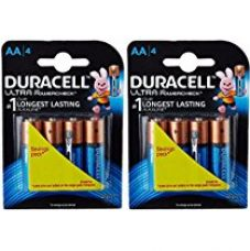 Duracell Ultra AA Battery with Duralock Technology and PowerCheck- 8 Pieces for Rs. 330