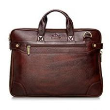 Buy The Clownfish Dual Tone Maroon Black Leather Tablet Bag and Laptop Bag for upto 15.6 inches Laptop screen -Macbook Pro, Macbook Air Laptop Bag from Amazon