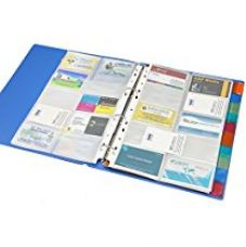 Solo BC- 807 Business Cards Holder - 500 Cards (with indexes) A4 - Blue for Rs. 497