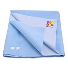 Buy Bey Bee - Quick Dry Baby Bed Protector Waterproof Sheet (Blue) {Medium} {Size: 100cm X 70cm} from Amazon