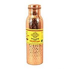 Buy IndianArtVilla Hammered Pure Copper Bottle, Travel Essential (1 Ltr) from Amazon