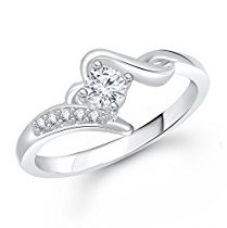 Meenaz Silver Rings For Girls Women In American Diamond CZ Solitaire Ring Jewellery Set For women - Finger ring 292 for Rs. 279
