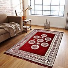 Zesture Bring Home Premium Living Room Valvet touch Carpet rug -(7 X 5 , Multicolor) for Rs. 599
