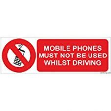 Clickforsign Mobile phone must not be used whilst driving Sign Board for Rs. 220